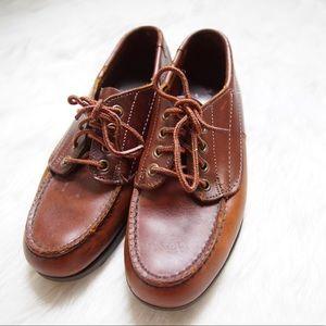 *Rare* Vintage Sebago Classic Leather Moc flats